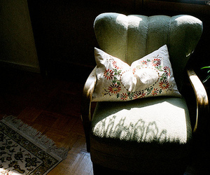 chair, pillow, and shadow image