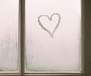 heart, love, and window image