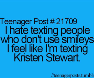 funny, kristen stewart, and smiley image