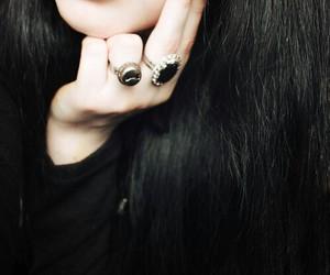 black, nails, and dark image