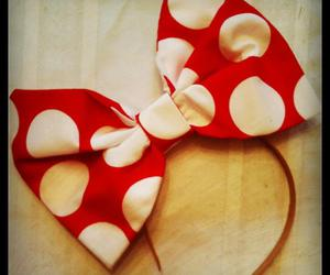 bow, headband, and minnie mouse image