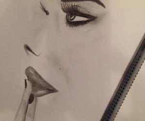 beautiful, woman, and drawing image