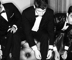 black and white, Joe Jonas, and jonas brothers image