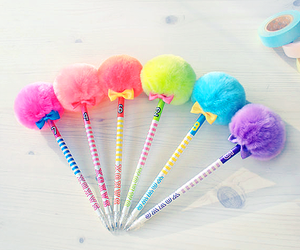 cute, colorful, and pen image