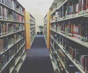 books, hazy, and library image