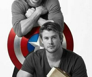 thor, chris evans, and captain america image