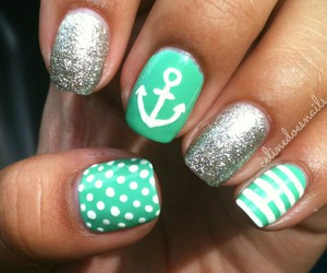 nails, anchor, and green image