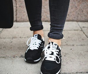 new balance, shoes, and black image
