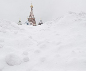 russia, snow, and moscow image
