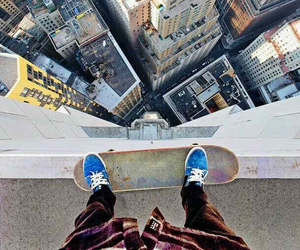 city and skateboard image