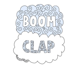 overlay, boom, and boom clap image