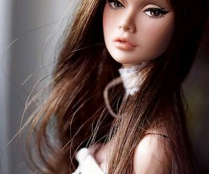 doll, girl, and barbie image