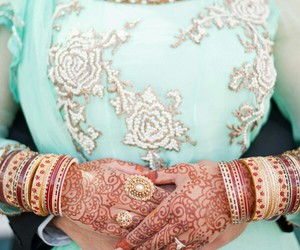 henna, hands, and india image