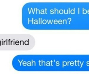 chat, funny, and girlfriend image