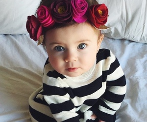 baby, child, and flowers image