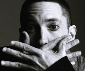 black and white, eminem, and stans image