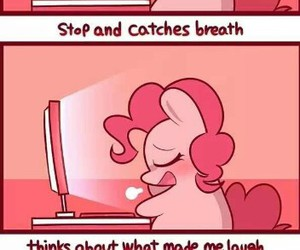computer, my little pony, and pinkie pie image