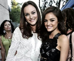 leighton meester, lucy hale, and gossip girl image