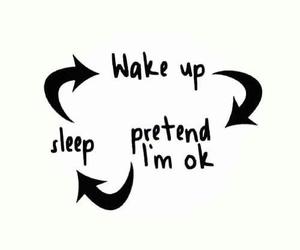 sleep, sad, and life image