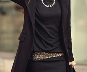 black, girl, and coat image