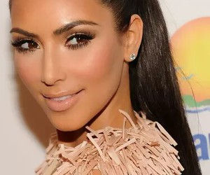 kim kardashian, beautiful, and hair image