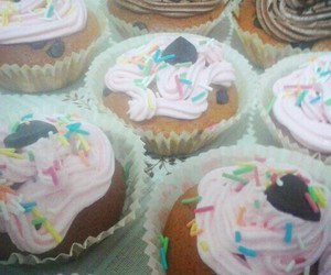 black, crema, and cupcake image