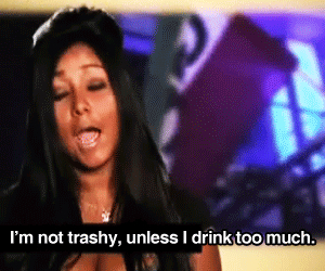 quote, jersey shore, and trashy image