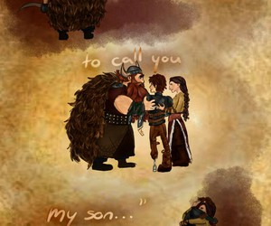 hiccup, valka, and family image