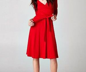 red dress, valentines day dress, and red mini dress image