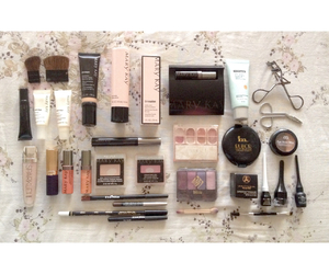 makeup, Maybelline, and esteelauder image