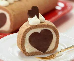 heart, cake, and chocolate image