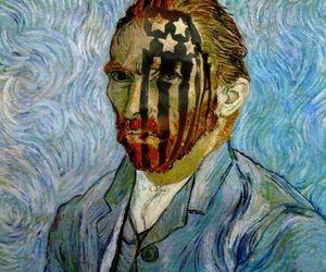 art, fall out boy, and van gogh image