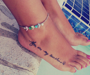 foot, quotes, and Tattoos image