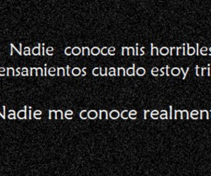 frases, nadie, and triste image
