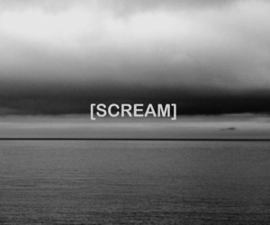 scream, black and white, and quote image