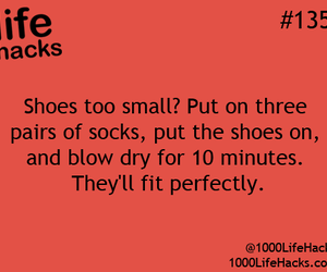 shoes, lifehacks, and life-hack image