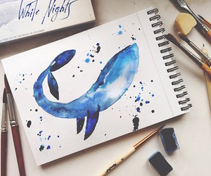 art and whale image