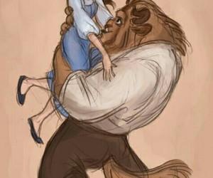 disney, beast, and belle image