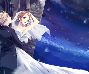 bride, groom, and rin image