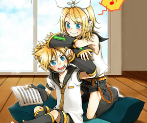 music, rin, and len image