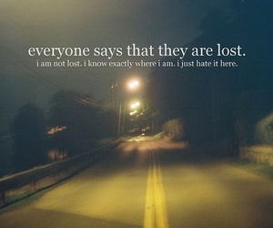 lost, text, and quote image