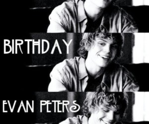 black white, smile, and evan peters image