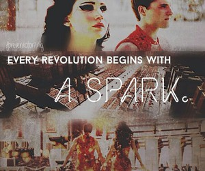 fire, catching fire, and rebellion image