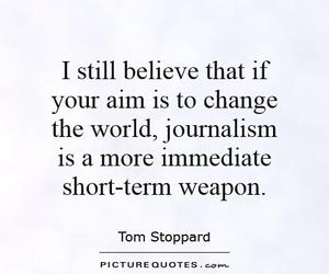 black and white, journalism, and quote image