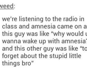 funny, tumblr, and amnesia image
