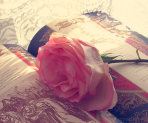 books, pink, and romantic image