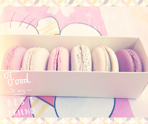 bright, food, and macaroon image