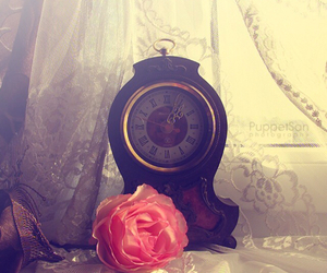 clock and rose image
