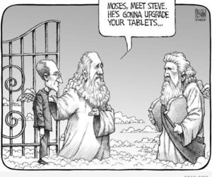 funny, Steve Jobs, and Moses image