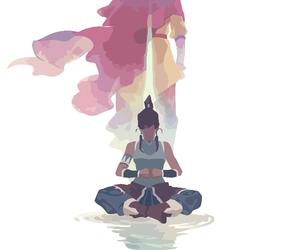 avatar, aang, and korra image